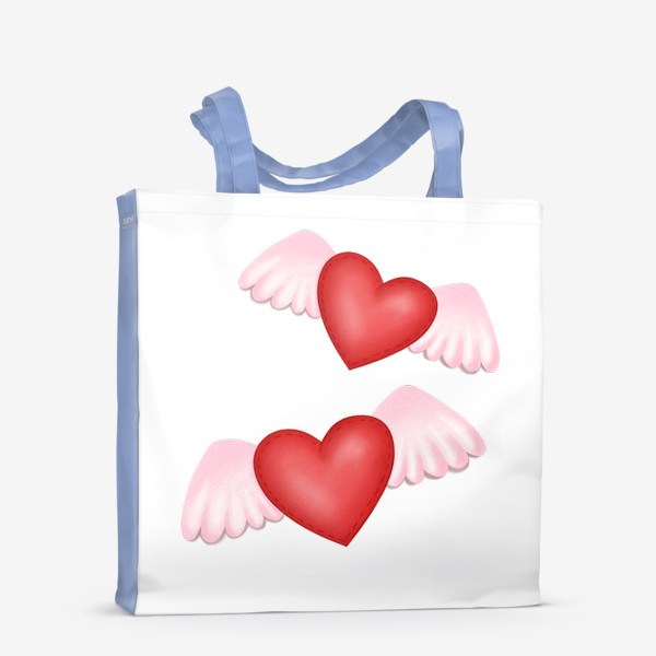 Сумка-шоппер «Два сердца-одна любовь»