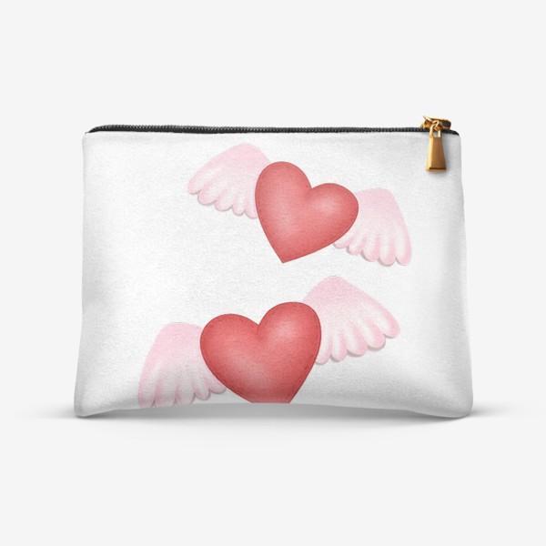 Косметичка «Два сердца-одна любовь»