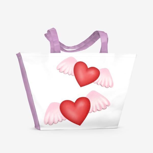 Пляжная сумка «Два сердца-одна любовь»