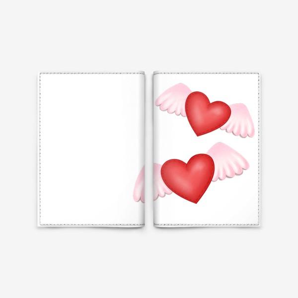 Обложка для паспорта «Два сердца-одна любовь»