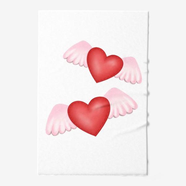Полотенце «Два сердца-одна любовь»