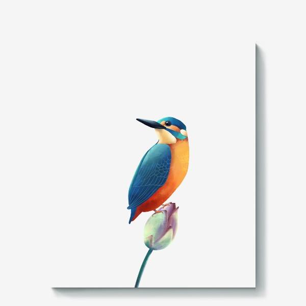 Холст «зимородок»