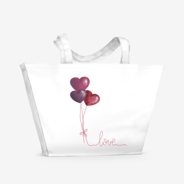 Пляжная сумка «love»