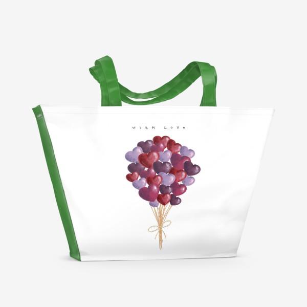 Пляжная сумка «with love»