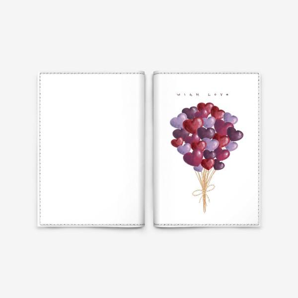 Обложка для паспорта «with love»