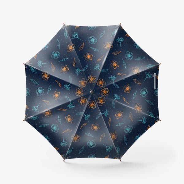 Зонт «Вишня, цветы и листья»