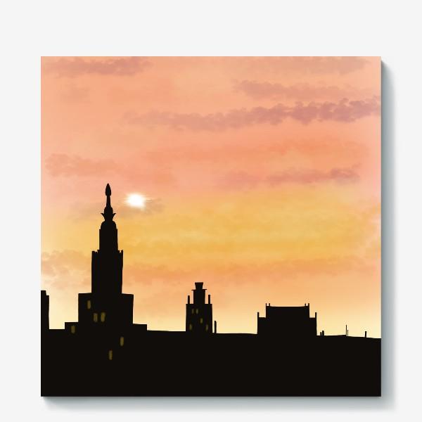Холст «Восход в городе»