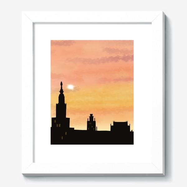 Картина «Восход в городе»