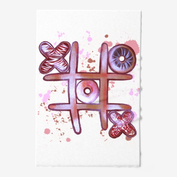 Полотенце «Крестики - Нолики. Съедобные открытки. 14 февраля. День всех влюблённых.»