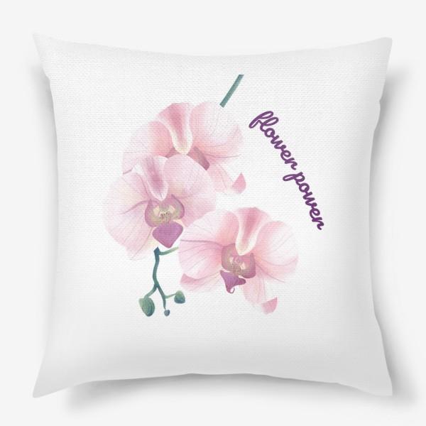 Подушка «розовая орхидея»