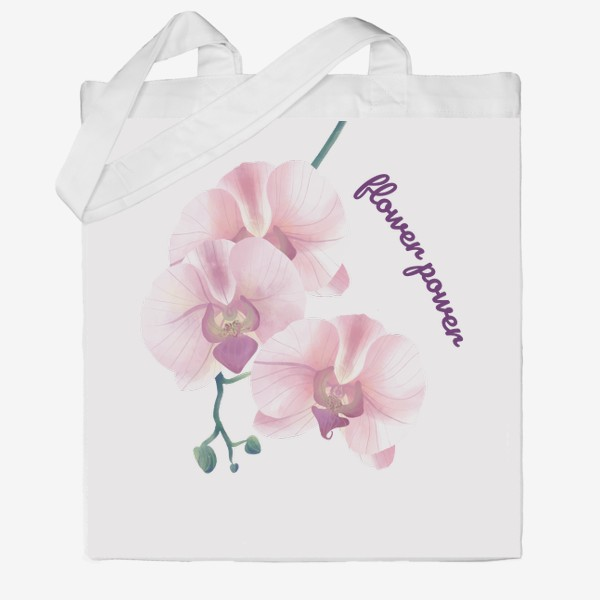 Сумка хб «розовая орхидея»