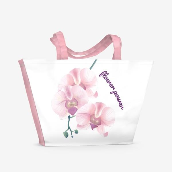 Пляжная сумка «розовая орхидея»