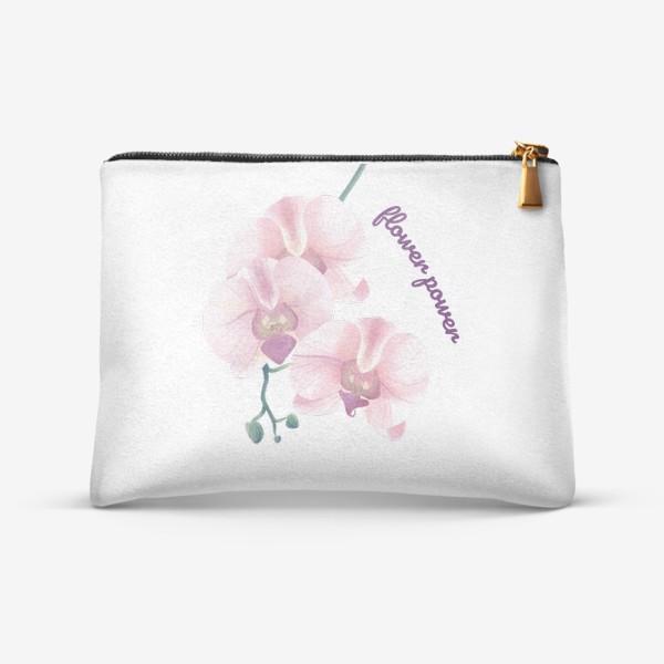 Косметичка «розовая орхидея»