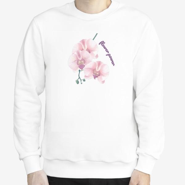 Свитшот «розовая орхидея»