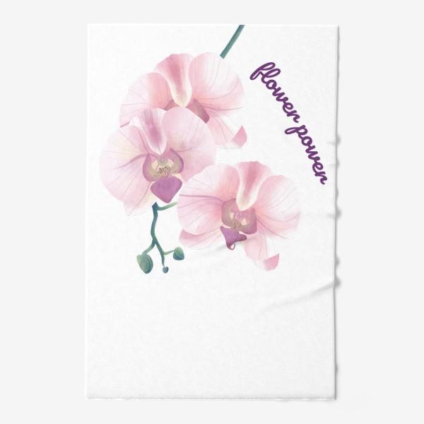 Полотенце «розовая орхидея»