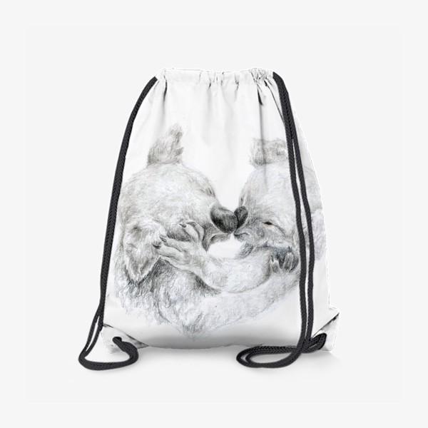 Рюкзак «пара целующихся коала»