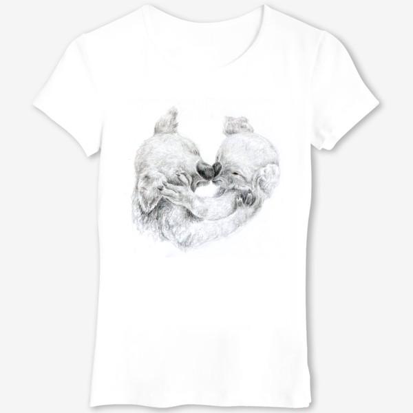 Футболка «пара целующихся коала»