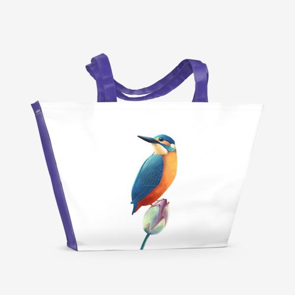 Пляжная сумка «зимородок»