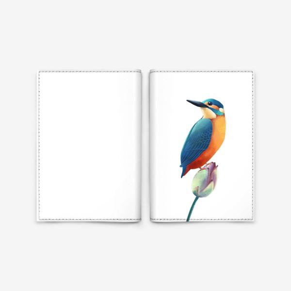 Обложка для паспорта «зимородок»