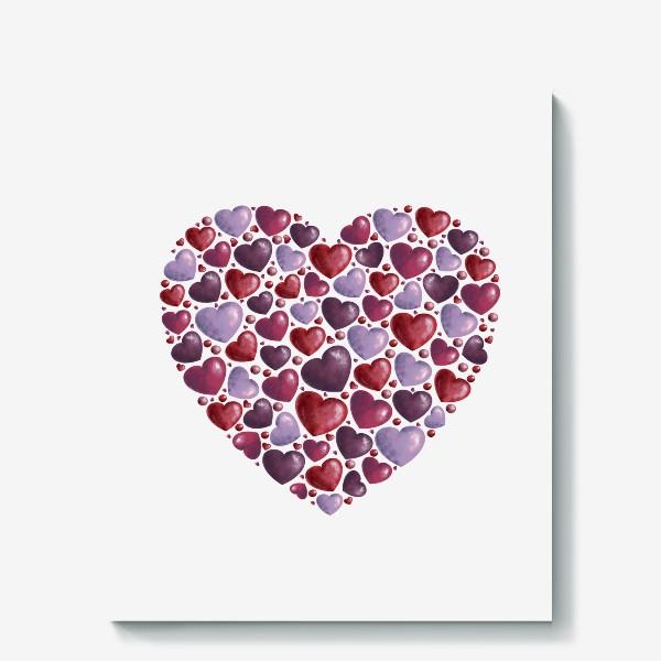 Холст «hearts»