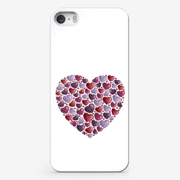 Чехол iPhone «hearts»