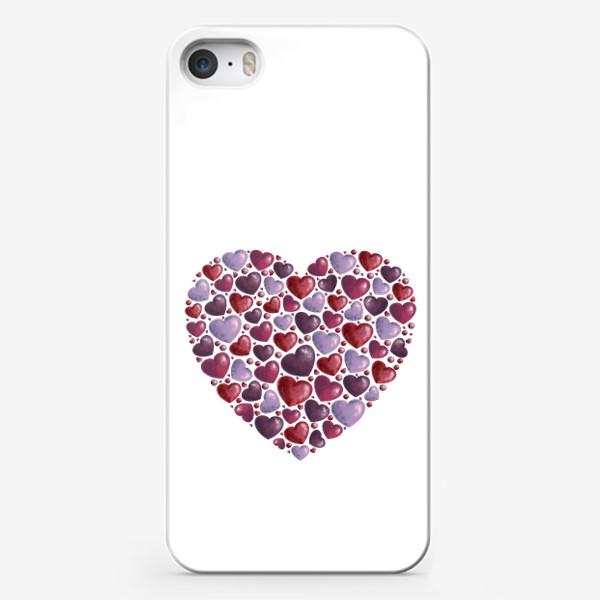 Чехол iPhone «hearts»