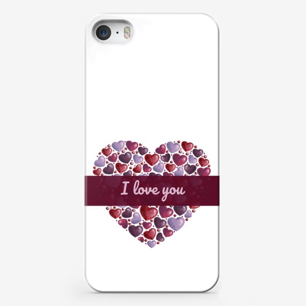 Чехол iPhone «i love you»