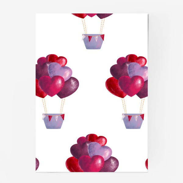 Постер «паттерн воздушные шары»
