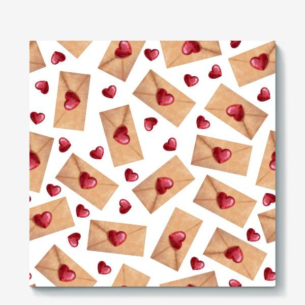 Холст «паттерн любовные письма»