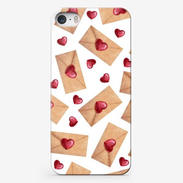 Чехол iPhone «паттерн любовные письма»
