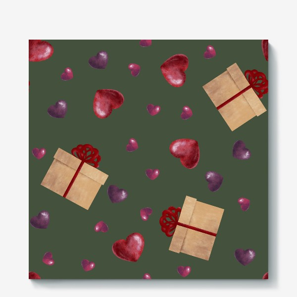 Холст «паттерн подарочки»