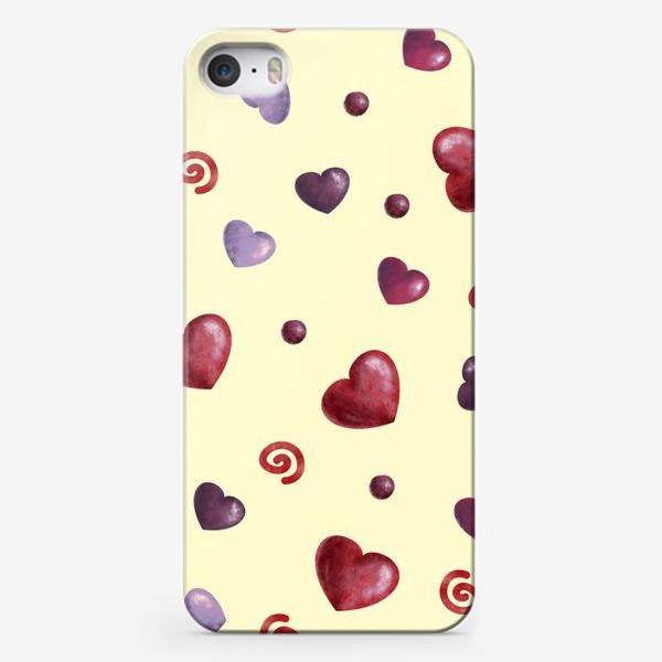 Чехол iPhone «паттерн сердечки»