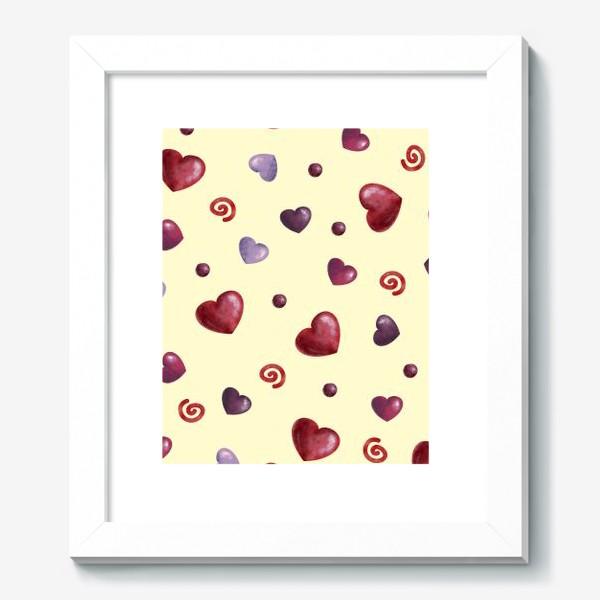 Картина «паттерн сердечки»