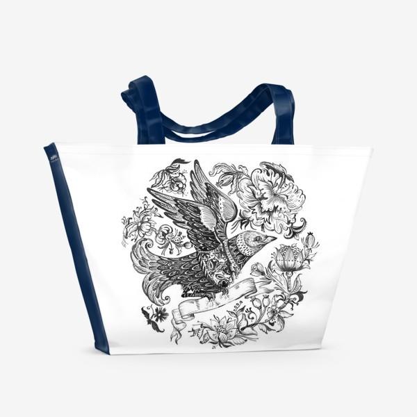 Пляжная сумка «Птица счастья»