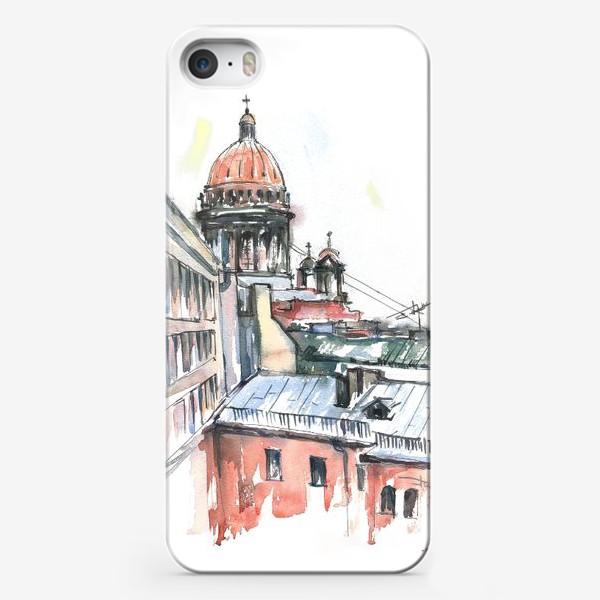 Чехол iPhone «Исаакиевский собор, Санкт-Петербург. Акварельный скетч»