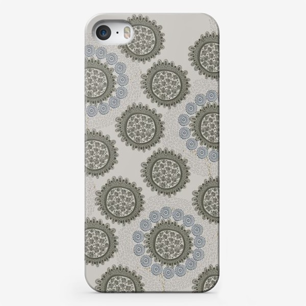 Чехол iPhone «Серый орнаметр»