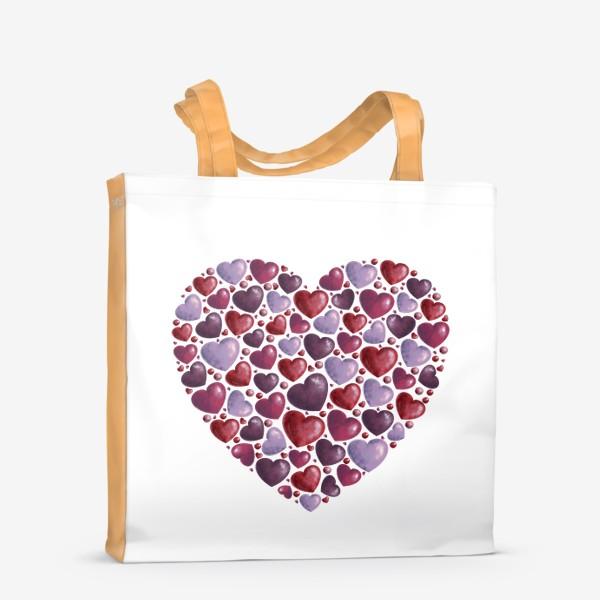 Сумка-шоппер «hearts»