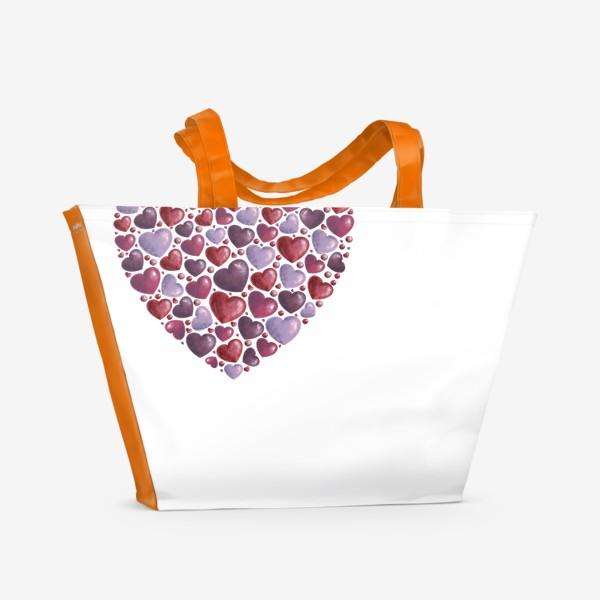 Пляжная сумка «hearts»