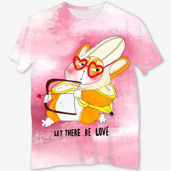 Футболка с полной запечаткой «Let there be love»