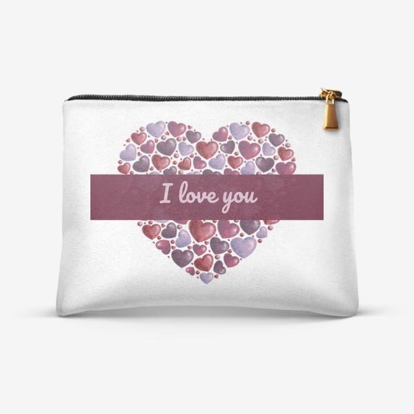 Косметичка «i love you»