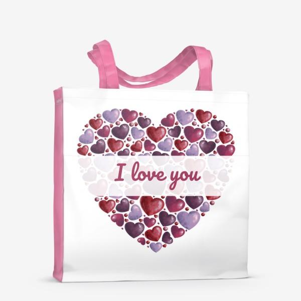Сумка-шоппер «i love you»