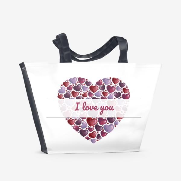 Пляжная сумка «i love you»