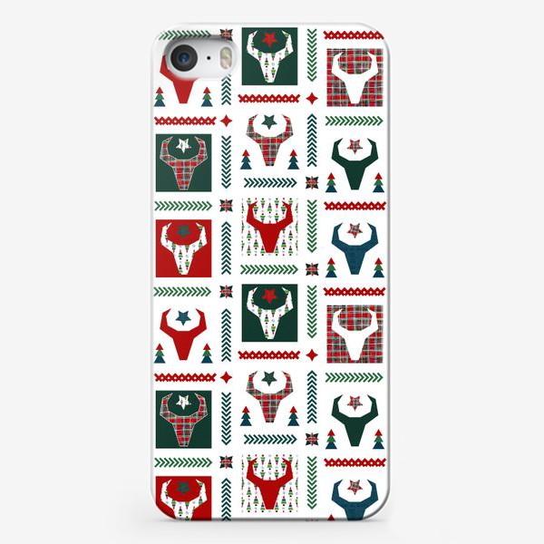 Чехол iPhone «Паттерн бык.»