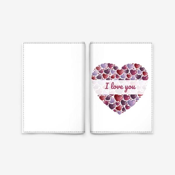 Обложка для паспорта «i love you»