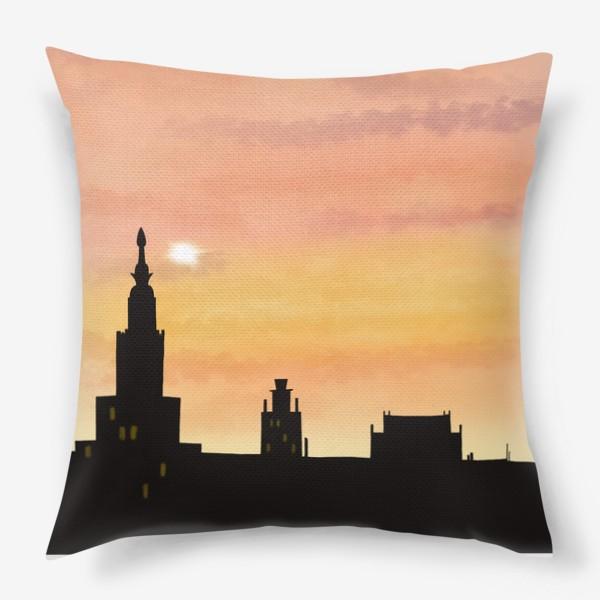 Подушка «Восход в городе»