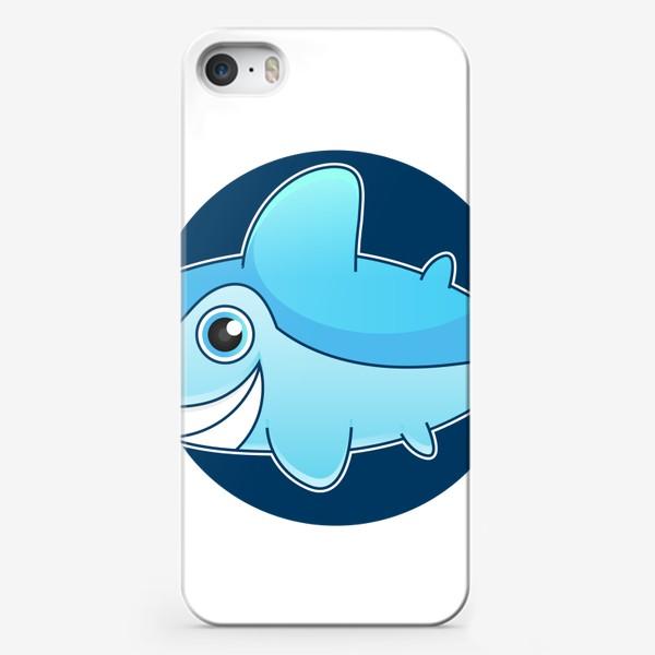 Чехол iPhone «Vector illustration of shark »
