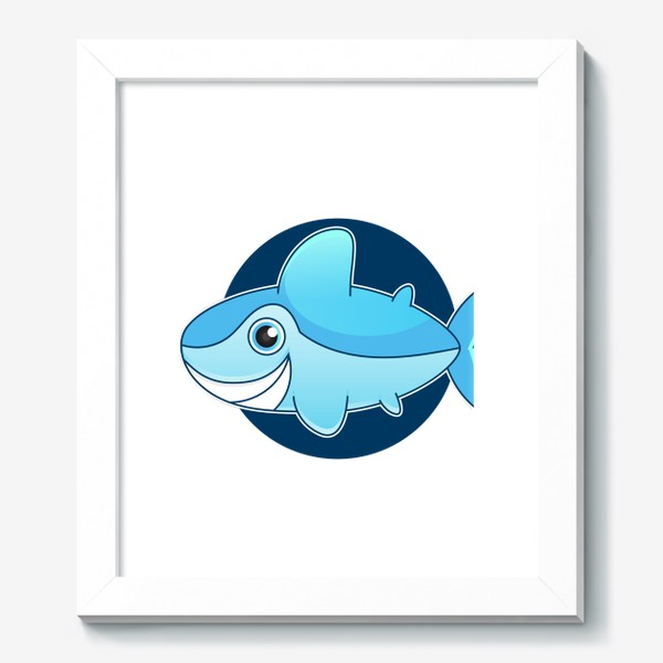 Картина «Vector illustration of shark »
