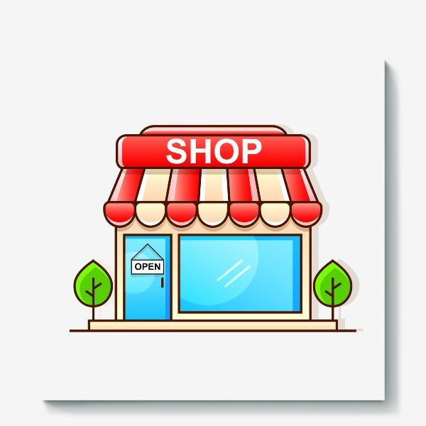 Холст «Supermarket shopping »