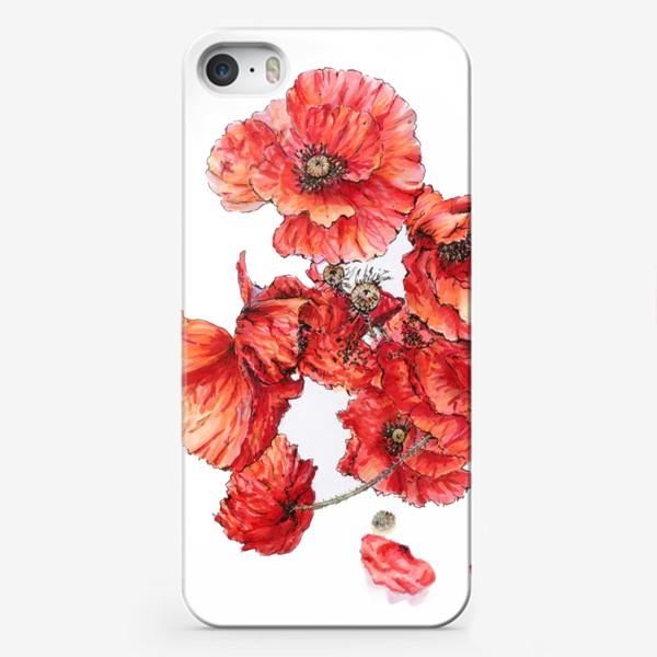Чехол iPhone «Букет маков»