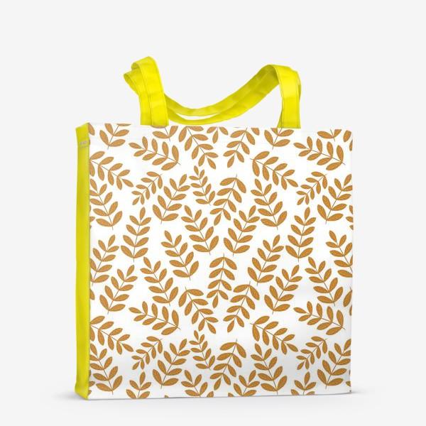 Сумка-шоппер «Золотые листья папоротника»
